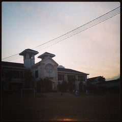 Photo taken at SMK Infant Jesus Convent Johor Bahru by Azlan S. on 3/5/2014