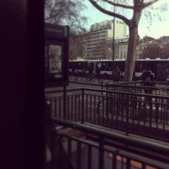 Photo taken at Arrêt Porte de Saint-Cloud [PC1,22,62,72,175,N12,N61] by Judy M. on 3/14/2013