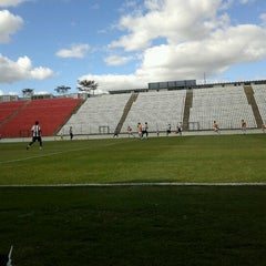 Photo taken at Estádio Joaquim Henrique Nogueira (Arena do Jacaré) - Democrata Futebol Clube by Raphael C. on 8/4/2012