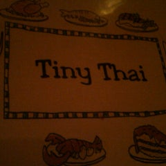 Photo taken at Tiny Thai by Brittani L. on 11/11/2011