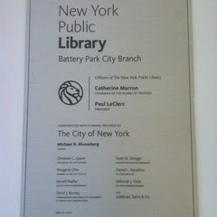 Photo taken at New York Public Library - Battery Park City by Bethany L. on 3/9/2012