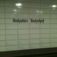 Photo taken at S Anhalter Bahnhof by Wilfred on 8/24/2012