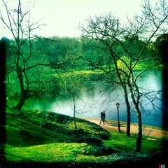 Photo taken at Central Park - Harlem Meer by rob z. on 3/18/2012