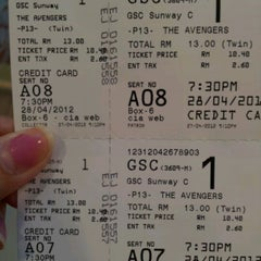 Photo taken at Golden Screen Cinemas (GSC) by Sylvia C. on 4/28/2012