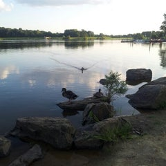 Photo taken at Core Creek State Park by Khoi N. on 8/28/2012