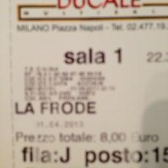 Photo taken at Cinema Ducale Multisala by Fabrizio P. on 4/1/2013