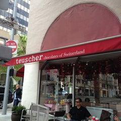Photo taken at Teuscher Chocolates & Cafe by Waukena K. on 4/15/2013