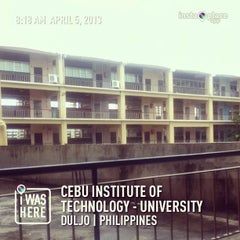 Photo taken at Cebu Institute of Technology - University by Kevin Ray C. on 4/5/2013