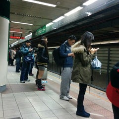 Photo taken at 捷運新店區公所站 MRT Xindian District Office Station by Anthony B. on 2/8/2014