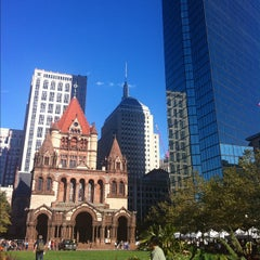 Photo taken at Copley Square by Chrysanthe T. on 9/25/2012