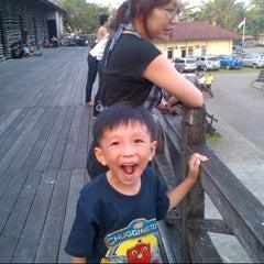 Photo taken at Rumah Adat Betang by lie t. on 6/23/2013