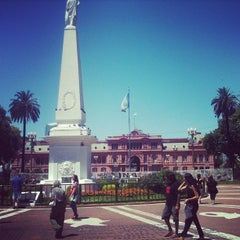 Photo taken at Plaza de Mayo by Elen C. on 4/13/2013