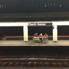 Photo taken at MTA Subway - Church Ave (B/Q) by Liubov K. on 7/26/2013