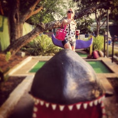 Photo taken at Peter Pan Mini Golf by Lindsey R. on 5/21/2013