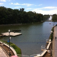 Photo taken at Parque de Los Lagos by Joseph R. on 7/24/2013