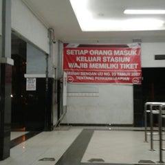 Photo taken at Stasiun Duren Kalibata by Diah N. on 11/19/2014