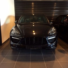 Photo taken at Porsche Showroom by Abeer A. on 11/13/2013