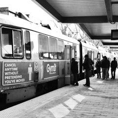 Photo taken at MBTA Riverside Station by Anggoro I. on 3/13/2013