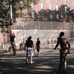 Photo taken at West 4th Street Courts (The Cage) by Steven B. on 9/16/2015
