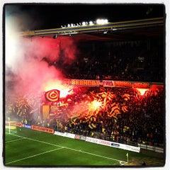 Photo taken at Brøndby Stadion by Robert H. on 11/28/2012