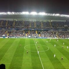 Photo taken at Estadio La Rosaleda by Eduar D. on 10/24/2012