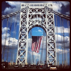 Photo taken at George Washington Bridge by Bill S. on 7/4/2013