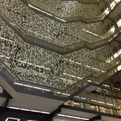Photo taken at NYU Bobst Library by Angeli d. on 1/28/2013