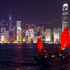 Photo taken at Victoria Harbour 維多利亞港 by Kelvin S. on 12/6/2012