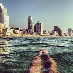 Photo taken at Frishman Beach (חוף פרישמן) by Игорь А. on 5/14/2014