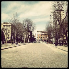 Photo taken at Piazza Solferino by Giorgio F. on 3/22/2013