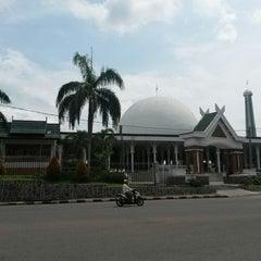 Photo taken at Masjid Agung Al-Falah by Sean R. on 6/5/2014