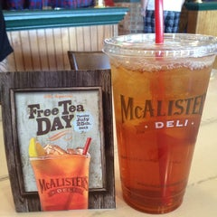 Photo taken at McAlister's Deli by Sarah B. on 7/25/2013
