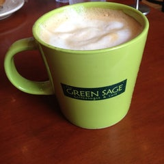 Photo taken at The Green Sage Coffeehouse & Cafe by Jordan S. on 7/28/2013