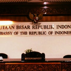 Photo taken at Embassy of the Republic of Indonesia by Andyka P. on 8/17/2013