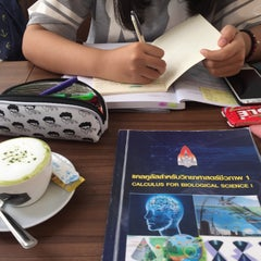 Photo taken at ระเบียงสบาย (Library Café) by Jeeranatcha K. on 9/24/2015