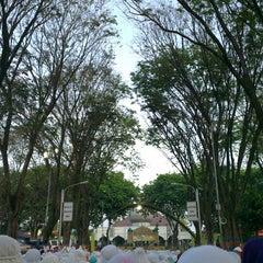 "Photo taken at Masjid Agung ""DARUSSALAM"" Bojonegoro by Dewi Fatah on 8/7/2013"