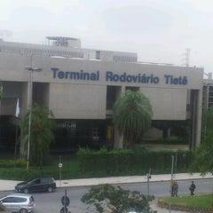 Photo taken at Terminal Rodoviário Tietê by Andréia S. on 5/23/2013