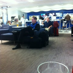Photo taken at Delta Sky Club by John G. on 10/18/2012
