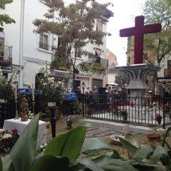 Photo taken at Plaza Larga by Enrique M. on 5/4/2013