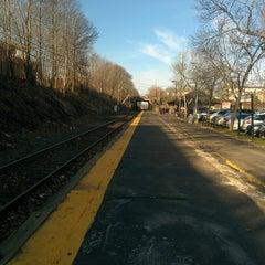 Photo taken at Franklin/Dean College MBTA Station by Geoffrey Z. on 4/22/2014
