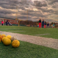 Photo taken at Franklin High School Turf Field by Geoffrey Z. on 4/8/2014