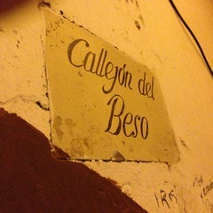 Photo taken at Callejón del Beso by hahnemannn on 2/3/2013
