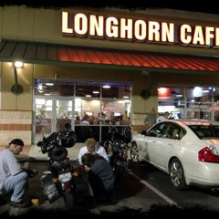 Photo taken at Longhorn Cafe by Jon M. on 10/25/2013
