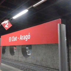 Photo taken at RENFE El Clot-Aragó by Juan Carlos C. on 6/17/2013