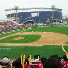 Photo taken at 무등야구장 (Mudeung Baseball Stadium) by hong n. on 6/1/2013