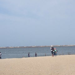 Photo taken at Ancol Beach by Herlia N. on 1/14/2014