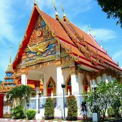 Photo taken at วัดพุทธมงคลนิมิตร (Wat Buddhamongkolnimit) by Diego Jose R. on 10/31/2015