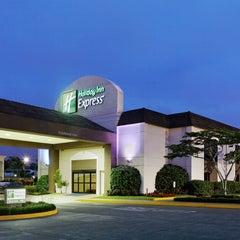 Photo taken at Holiday Inn Express San José Aeropuerto by Marjorieq E. on 7/24/2013