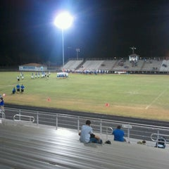 Photo taken at Ingleside Mustang Stadium by Trey M. on 9/14/2012