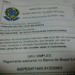 Photo taken at Banco do Brasil by Vanessa Leite T. on 5/27/2013